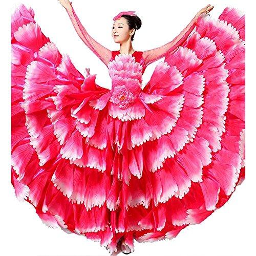 Wgwioo Frauen Flamenco Kleid 180 360 540 720 -