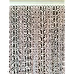 Bronce antiguo y bronce doble gancho cadena de aluminio mosquitera puerta pantalla de cortina para puerta Fly–Extra largo–90cmx210cm