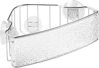 InterDesign Rain Power Lock Suction Bathroom Shower Caddy Shelf for Shampoo