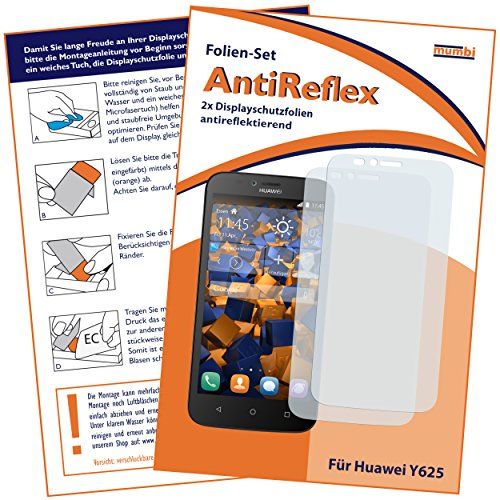 mumbi Schutzfolie kompatibel mit Huawei Y625 Folie matt, Bildschirmschutzfolie (2x)
