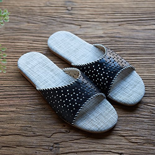 lino pantofole, amanti a casa, la parola ,38 e 39 viola 42 - 43 nero
