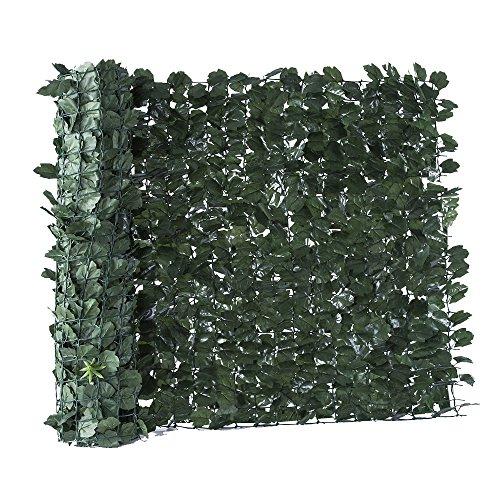 Hecke Künstliche Ivy grün dunkel ZAUN Balkon Garten 100x 300cm EV