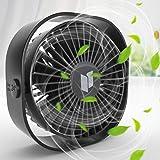 Renfox USB-ventilator, handventilator, kleine pc-ventilator, USB mini-ventilator, 3 snelheden, USB-ventilator, geluidsarm, ee