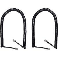 Duttek Cavo Telefonico Spirale (Confezione da 2), Con Cavo Telefonico Cavo Cornetta Telefono Fisso, Lunghezza a Spirale…