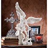 Design Toscano St. Michael the Archangel Bonded Marble Angel Statue