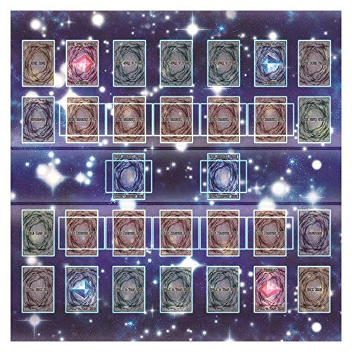 ANAGFEOL Jouet Rubber Play Mat 60x60cm Galaxy Style Competition Pad Playmat for YU-gi-Oh Card Personnalisé IdéE Cadeau
