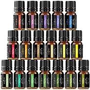 Anjou Aceites Aromaterapia 18, Aceites Esenciales Natural 100% (Lavanda, Naranja Dulce, Árbol de Té, Eucalipto