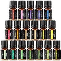 Anjou Aceites Aromaterapia 18, Aceites Esenciales Natural 100% (Lavanda, Naranja Dulce, Árbol de Té, Eucalipto, Hierba de Limón, Menta, Bergamota, Incienso, Limón y Extra) para Humidificador