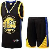 Traje de Baloncesto para niños, Golden State Warriors 30 Stephen Curry, Ropa de Baloncesto para fanáticos, Camiseta de Verano