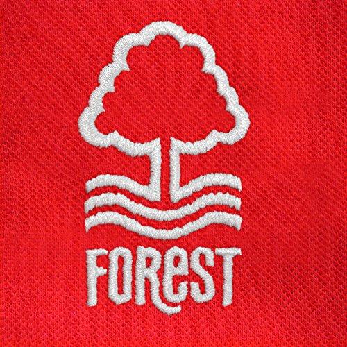 Nottingham Forest FC - Herren Polo-Shirt mit Vereinswappen - Offizielles Merchandise - Geschenk für Fußballfans Rot
