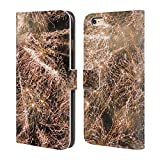 Head Case Designs Offizielle PLdesign Funkelnde Feuerwerke Ferien Und Festtage Brieftasche Handyhülle aus Leder für iPhone 6 Plus/iPhone 6s Plus
