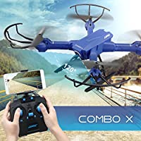 ECLEAR RC Quadcopter Mini Drone, 4 Channel 2.4GHz 6-Axis Gyro Helicopter with 720P HD Camera LED Lights WiFi FPV Headless Mode 3D Roll Toys For Adult Kids Aerial Photography Racing, by - Compare prices on radiocontrollers.eu
