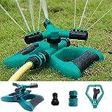 Sea pioneer Garden sprinkler, Automatic 360 Rotating Adjustable Garden Water Sprinkler Lawn automatic