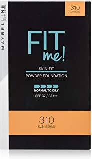 Maybelline New York Fit Me Two Way Cake (Powder Foundation), 310 Sun Beige, 9 g