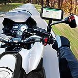 Motorrad Handy halterung, ikalula Fahrradhalterung rustikale Beutel-Tasche 360 Grad drehbar Motorrad Schutz Tasche Handytasche für Motorrad-Rückspiegel
