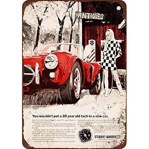 1968stewart-warner Contagiri Look Vintage Riproduzione in metallo Tin Sign 30,5x 45,7cm