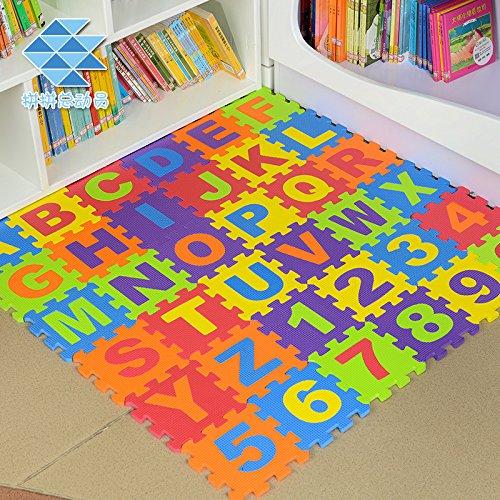 36PCS Weich Eva-Schaum Sicherheit Spielmatte Lernen Buchstaben Zahlen Puzzlespiel für Baby Kinder UK von Trimmingshop - Large