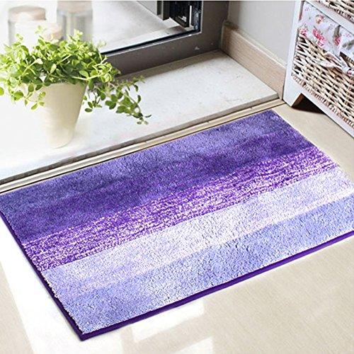 Antideslizante Microfiber Alfombra de baño Alfombra de la ducha Super suave para el cuarto de baño Dormitorio cocina 50 * 80cm púrpura