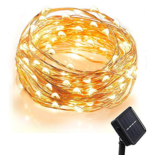 ComwinnDirect [100 LED 33 Feet ] Solar Fairy Lights, Comwinn Starry String Lights,10 Meters, Waterproof, 1.2 V, Portable, with Light Sensor, for Gardens, Homes, Dancing,Wedding, Party, Party, Magical Lighting Decor