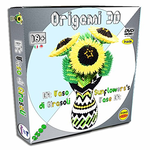 Kit para montar un jarrón de girasoles de Origami 3D - completa...