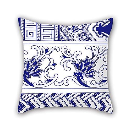 niceplw estilo chino azul y blanco porcelana manta fundas de almohada de...