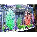 Legendog Artificial Aquatic Plants, 10 Pcs Aquarium Plants Plastic Fish Tank Decorations, Artificial Green Plant Grass… 12