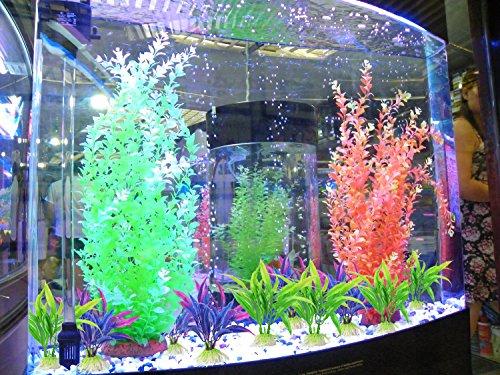 Legendog Artificial Aquatic Plants, 10 Pcs Aquarium Plants Plastic Fish Tank Decorations, Artificial Green Plant Grass… 4