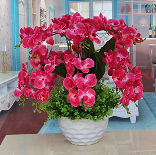 LIXIAOXIN Butterfly Orchid Simulation Set Dekoration False Rose Rot