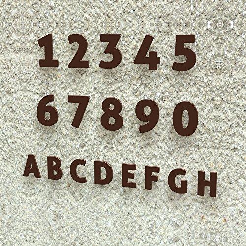 Colours-Manufaktur Número de Casa Modern 0–9y a de H * Fabricado en Alemania Tamaños