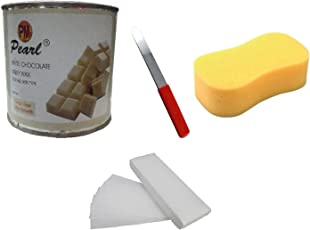 Generic Ddh White Chocolate Wax + 90 Stripes + Sponge + Applicator Waxing Kit - 600 Gm (Pack Of 4)
