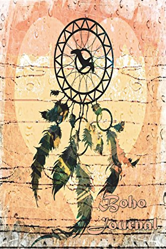Boho Journal: 140 Lined Pages Softcover Notes Diary, Creative Writing, Class Notes, Composition Notebook - Green Dreamcatcher