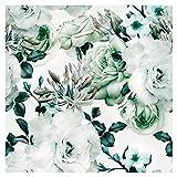 murando - Tapete selbstklebend 10m Wandtattoo dekorative Möbelfolie Dekorfolie Fotofolie Panel Wandaufkleber Wandposter Wandsticker - Blumen Rosen f-B-0263-j-d
