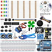 REES52 The Basic Starter kit for Compatible with Arduino UNO R3, Breadboard, LED, Resistor,Jumper Wires and Po