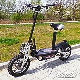 Elektro Scooter 1000 Watt E-Scooter Roller 36V / 1000W Elektroroller - Viron V.7 (schwarz)