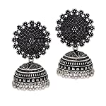 Jaipur Mart is presenting once again with the collection of women's gorgeous imitation ornaments, which keeps you in mind and appreciates your loved ones. these charming jhumka earrings give you an attractive look as you wish. you can wear it in all ...