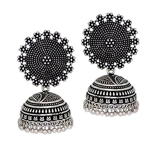 Jaipur Mart Jhumki Earrings for Women (Silver)(GSE247$P)