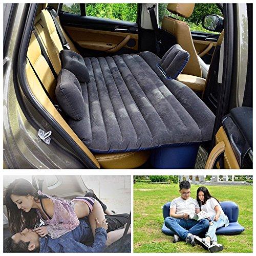 Viaje en Coche cama inflable Camping AUTO AIR Literie Colchón hinchable inflación asiento trasero sofá élargi para vus y berlines y camionetas Camping Universal