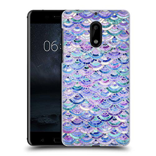 Offizielle Micklyn Le Feuvre Mosaik Und Amethyst Und Lapislazuli Marmor Muster Ruckseite Hülle für Nokia 6