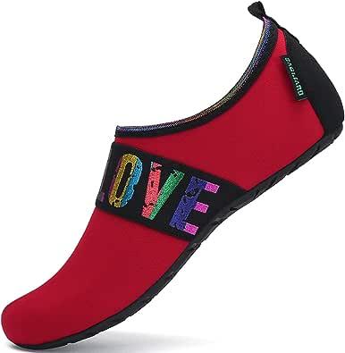SAGUARO Slip On Water Shoes Women Men Quick Dry Lightweight Aqua Socks Barefoot for Beach Pool Swim Surf Yoga