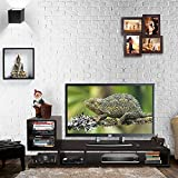 #3: Klaxon Wooden TV Stand For Living Room - Decor L Shape With Open Shelves For Storage - Brown,Matte Finish (1200mm*400mm*503mm) (Do It Yourself - Diy)