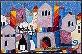 Dekorative Fußmatte von Salonloewe, Rosina Wachtmeister - Katzen in der Stadt - Größe 50 x 75 cm