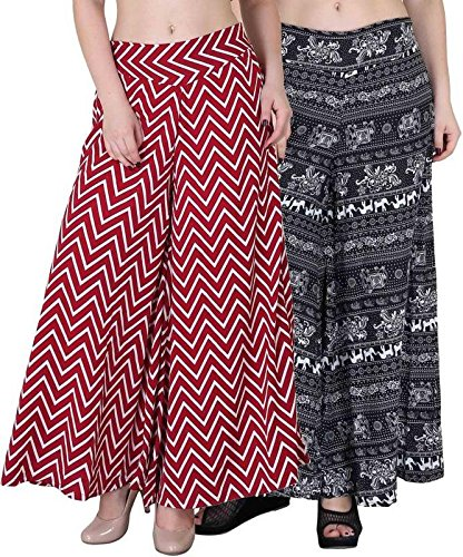 Shmayra Regular Fit Women's Multicolor Palazzo Pants for Womens With Inner &...