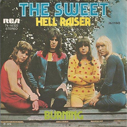 Sweet, The / Hell Raiser / Burning / 1973 / Bildhülle / RCA 74-16322 / Deutsche Pressung / 7 Zoll 17 cm Vinyl Single Schallplatte SP /