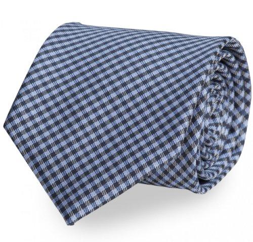 Fabio Farini Cravate de carreaux bleu noir