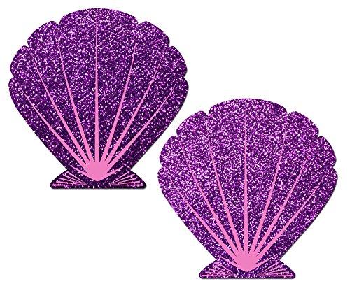pasteaser-womens-mermaid-glitter-purple-and-pink-seashell-nipple-pasties-o-s