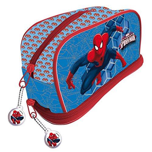 Disney- Spiderman Trousse de Toilette, AS9802, 11 x 21 x 9 cms