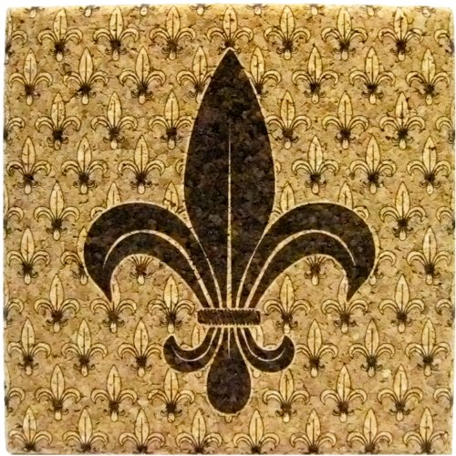XL Coasters Fleur-de-Lis (6 Inch, Set of 2) by XL - Set Lis De Coaster Fleur