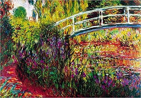 Set: Claude Monet, Le Pont Japonais (b) Poster Kunstdruck (100x70 cm) Inklusive 1x 1art1® Collection Poster