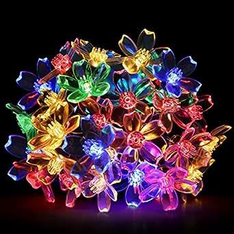 LE 5M 50 LEDs Catene luminose RGB a LED, Pannello Solare 1.2V
