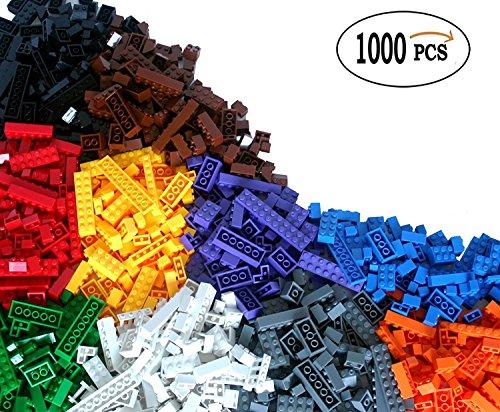 Cenblue 1000 Building Bricks - Kindergebäude Tight Fit und kompatibel mit allen großen Marken - die meisten sind große Blöcke -